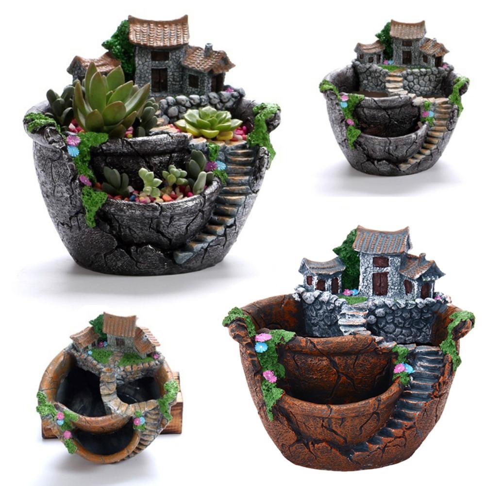 Office Home Decoration Vintage Flower Pot Garden Plant Mini Succulent Planter flower pot