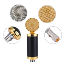 Professional Wired Condenser Microphone Echo Function with Mic Shock Mount + Mic Wind Screen Pop Filter microfone condensador