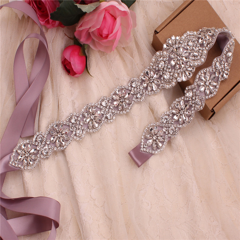YJWSXF Handmade Bridal Wedding Crystal Rhinestone Belt Dress Dinner Girdle