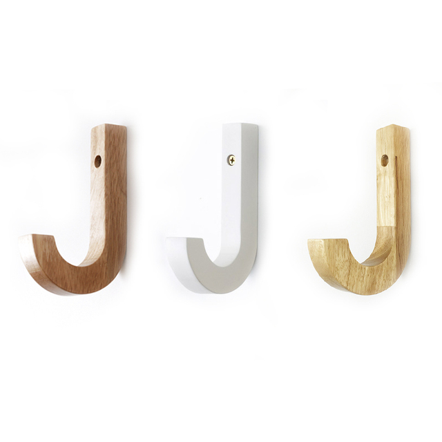 Creative wood coat hooks decorative wall hook minimalist modern ...