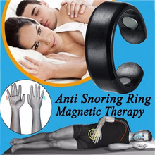 Acupressure Anti Snore Ring Magnetic Therapy Stopper Treatment Snoring Device Against Finger
