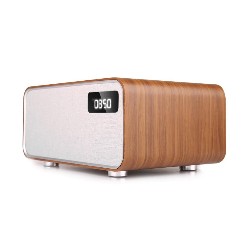 Sounderlink Neus Retro madera inalámbrica Bluetooth Smart TV de cine en casa de Casa altavoz boombox dormitorio reloj HiFi calidad de sonido - 2