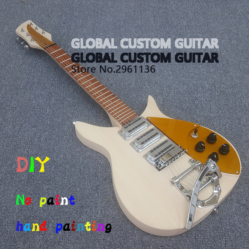 DIY No paint High quality Three pickup rickenbacker 325 electric guitar,Give the signature,Real photos,free shipping Hot Sale!!! new original black full lcd display