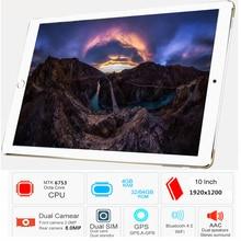 Free Shipping Original 10.1 inch 4G LTE FDD Phone tablet PC 10 Core RAM 4GB ROM 64GB 1920*1200 IPS Dual SIM card tablets pcs