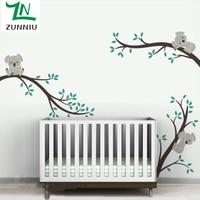 ZN A002 Large size Koala Tree Branches DIY Wall Decals Vinyl Wall Sticker Wall Tattoo Art mural For Nursery Kids Room Decor