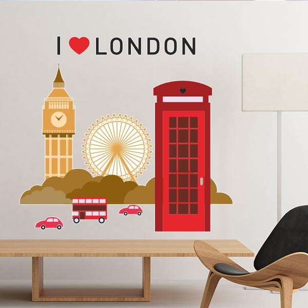 i love london uk england landmark flag illustration pattern