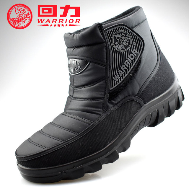 Warrior Outdoor winter warm shoes for women female ankle snow boots cotton-padded  waterproof oxford fabric large big Plus size