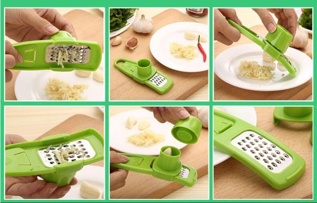 Kitchen Accessories Multi Functional Garlic Presses Ginger Garlic Grinding Grater Planer Slicer Cutter Vegetabl Cooking Tool