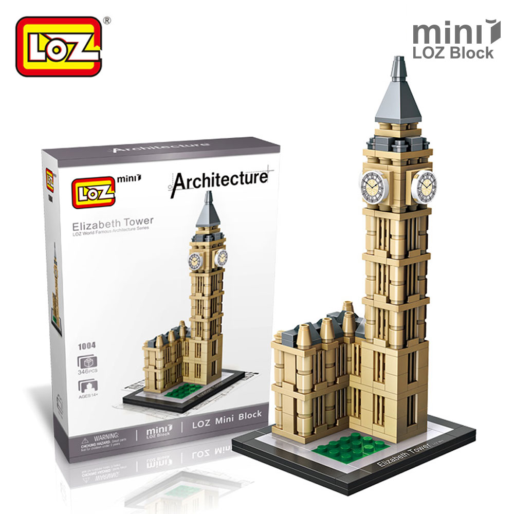 Mr.Froger LOZ Elizabeth Tower Mini Blocks Architecture Big Ben Model Clock Tower Building Block Educational Toys For Children loz architecture famous architecture building block toys diamond blocks diy building mini micro blocks tower house brick street