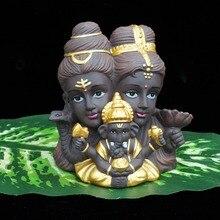 シヴァガネーシャ Vishnu 像インド象神神のダンス仏像守護聖人家の装飾の置物装飾