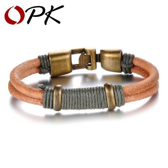 OPK Brand Vintage Brown Silicone Man Bracelet Fashion New