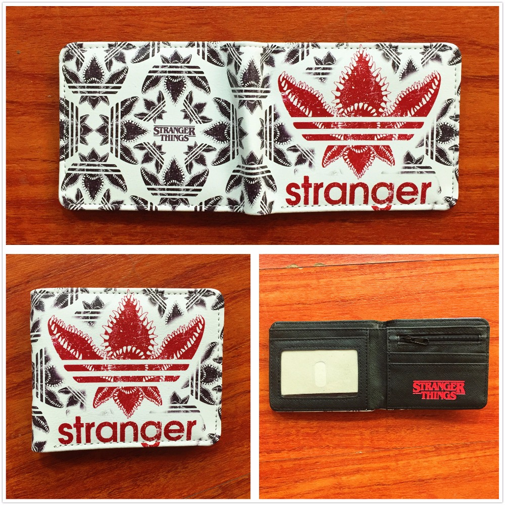 Stranger things purse men women short wallet multi credit card holder PU leather waalet W715Q