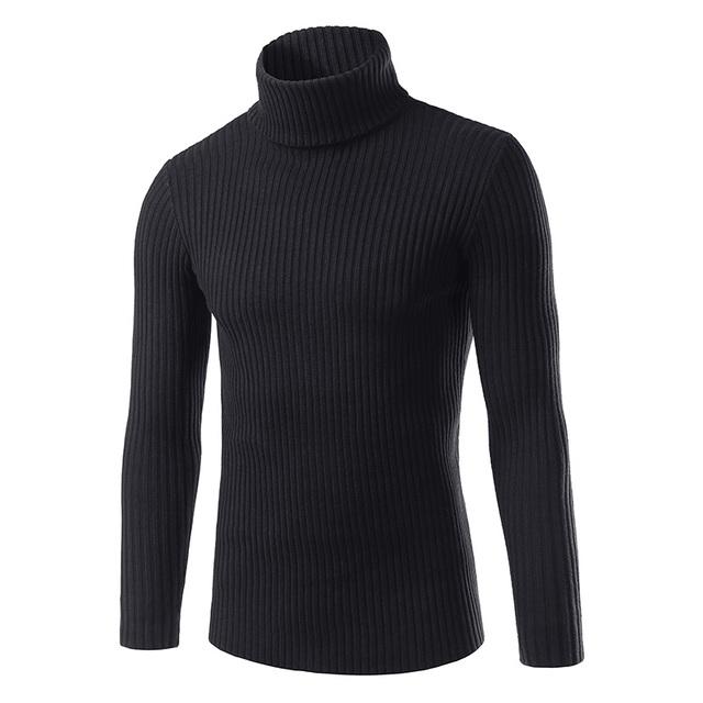 O outono inverno lã camisola de gola alta camisa dos homens da moda dos homens novos