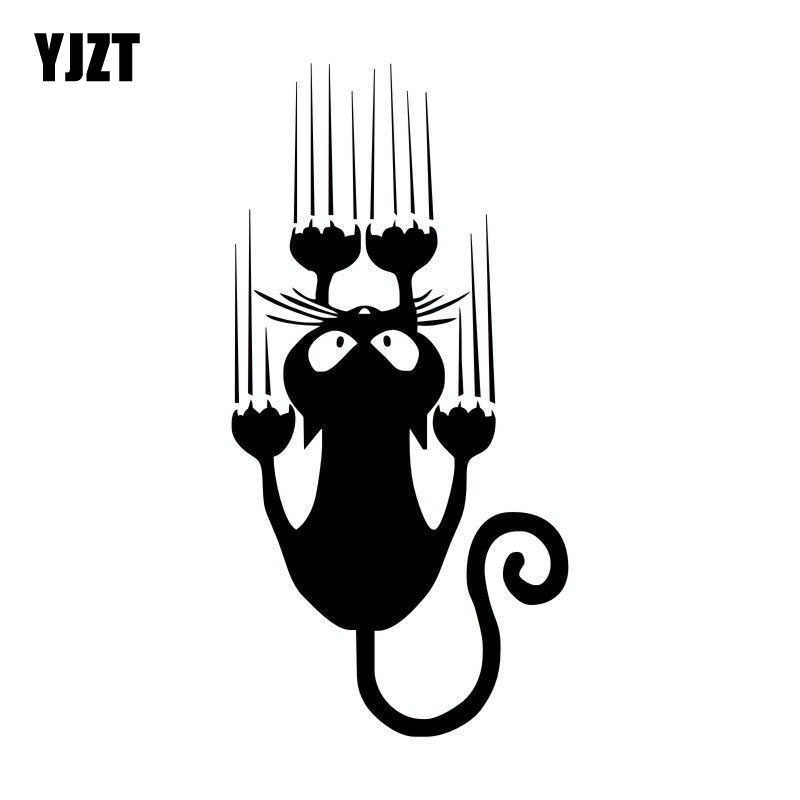 YJZT 7.5*15CM Waterproof Cat Pattern Car Sticker Funny Animal Vinyl Decal Car Window Bumper Stickers C4-0636