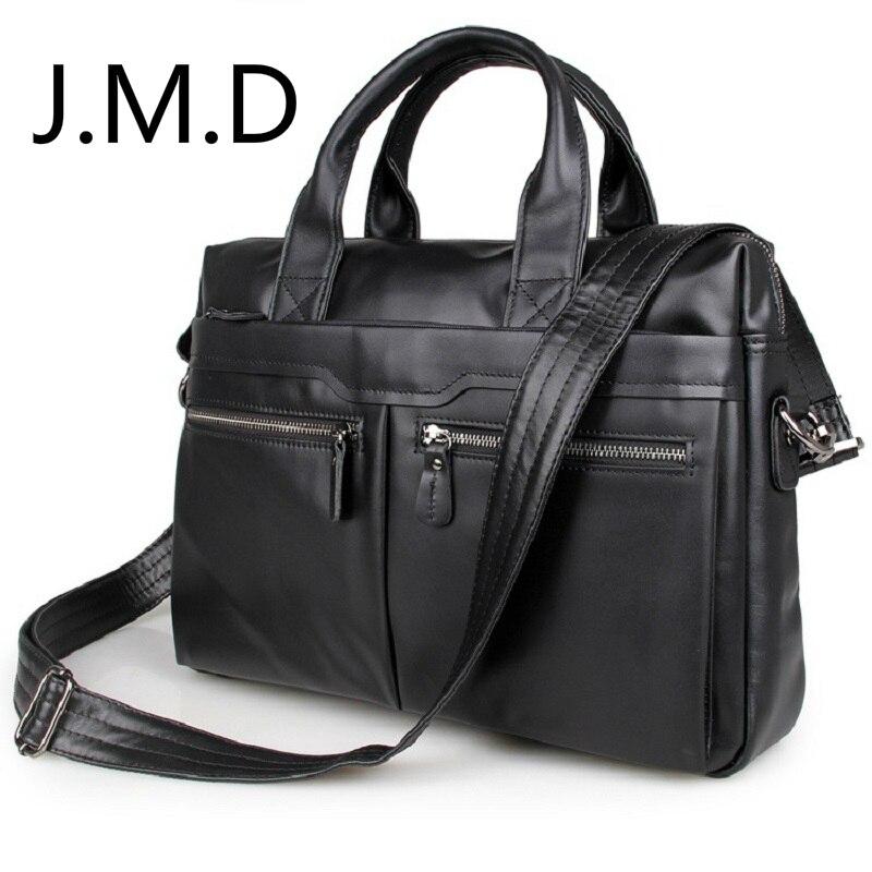 J.M.D 2018 New Arrival 100% Genuine Leather Men's Black Handbag Shoulder Messenger Bag Laptop Briefcase 7122 кухонный смеситель kuppersberg master kg 2480 ecru 7122