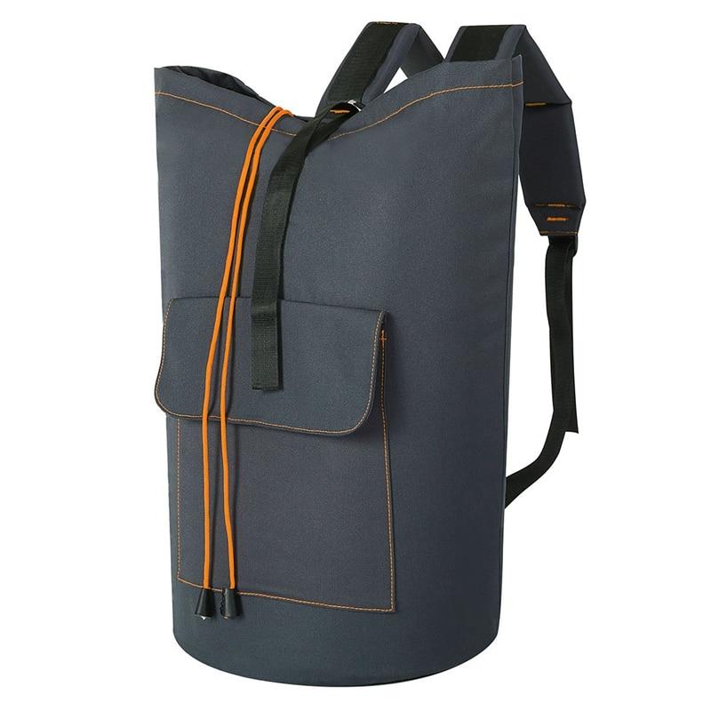 Promotion! Extra Large Laundry Bag Laundry Backpack Hanging Laundry Hamper Adjustable Shoulder Straps Camping Bag Waterproof D