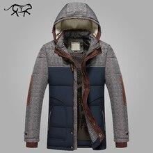 ฤดูหนาวแจ็คเก็ตผู้ชายแฟชั่นM 5XLใหม่มาถึงCasual Slim CottonหนาMens Coat Parkasพร้อมHooded Warm Casaco Masculino