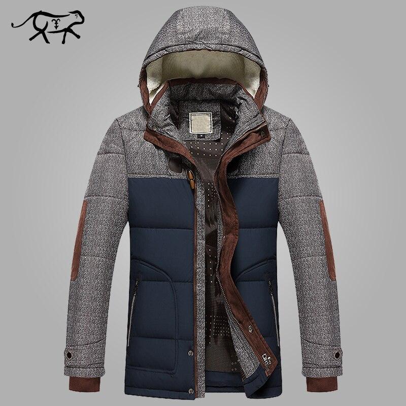 Marque Hiver Veste Hommes Mode M-5XL Nouvelle Arrivée Occasionnel Mince Coton Épais Mens Manteau Parkas Avec À Capuche Chaud Casaco Masculino
