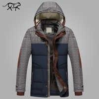 Marque hiver veste hommes mode M-5XL nouveauté décontracté Slim coton épais hommes manteau Parkas avec capuche chaud Casaco Masculino