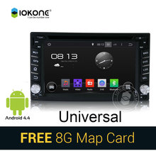 IOKONE Rockchip 3066 Cortex A9 dual-core 1.6G Universal Android 4.4 Car DVD Player  with GPS Navigation Radio RDS 3G WIFI