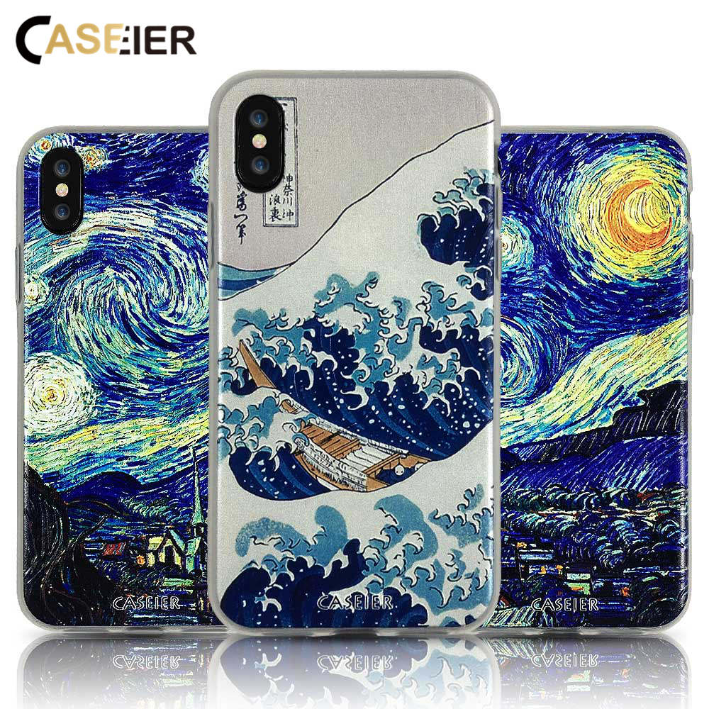 CASEIER Case For Huawei Mate 20 10 Lite P20 P10 Pro P Smart Y9 Starry Surfing Emboss Cases Cover Fundas