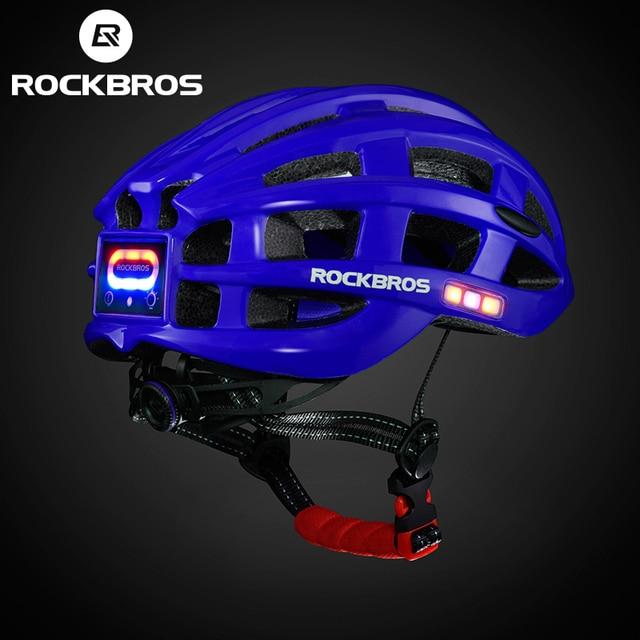 Rockbros luz ciclismo capacete da bicicleta ultraleve capacete integralmente moldado seguro 57-62cm mountain road bicicleta mtb capacetes 4
