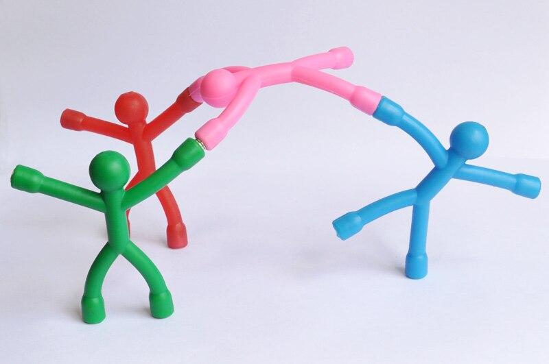 Одноцветные магниты на холодильник для мужчин Q-Man Qman для детей, новинка, научная игрушка, магнитная фигурка для офиса, холодильник, бумага, фото, зажим, наклейка