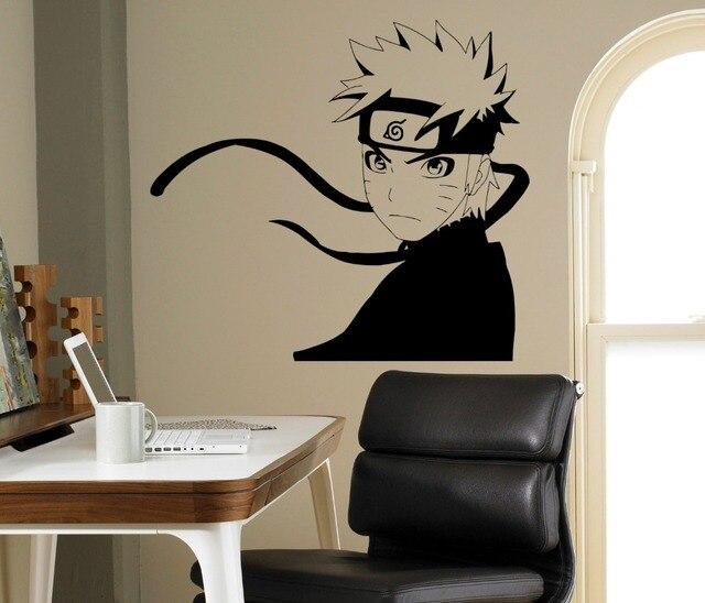 Japonais Manga Mur Déclas Naruto Ninja Célèbre Motif Imperméable Mural  Autocollant Pépinière Garçons Chambre Dessin Animé