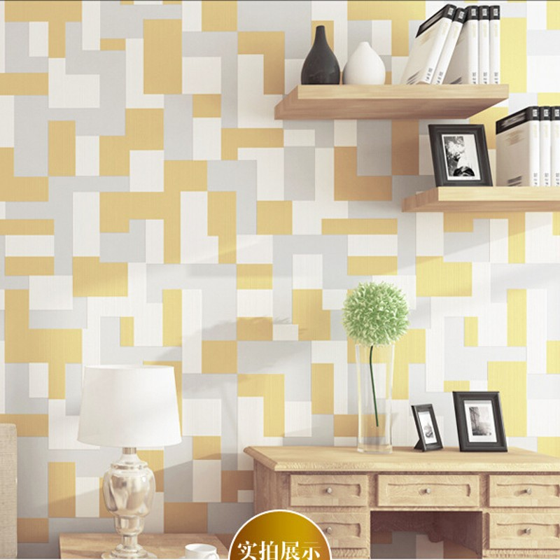 Beibehang moderne 3D papier peint stéréo salon TV murs Nonwovens mosaïque papier peint papier peint mural 3d rose beige papier peint