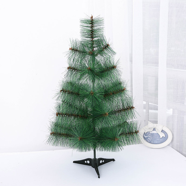 Mini Artificial Christmas Tree Small Xmas Plastic 60cm New Year Home Ornaments Desktop Decorations