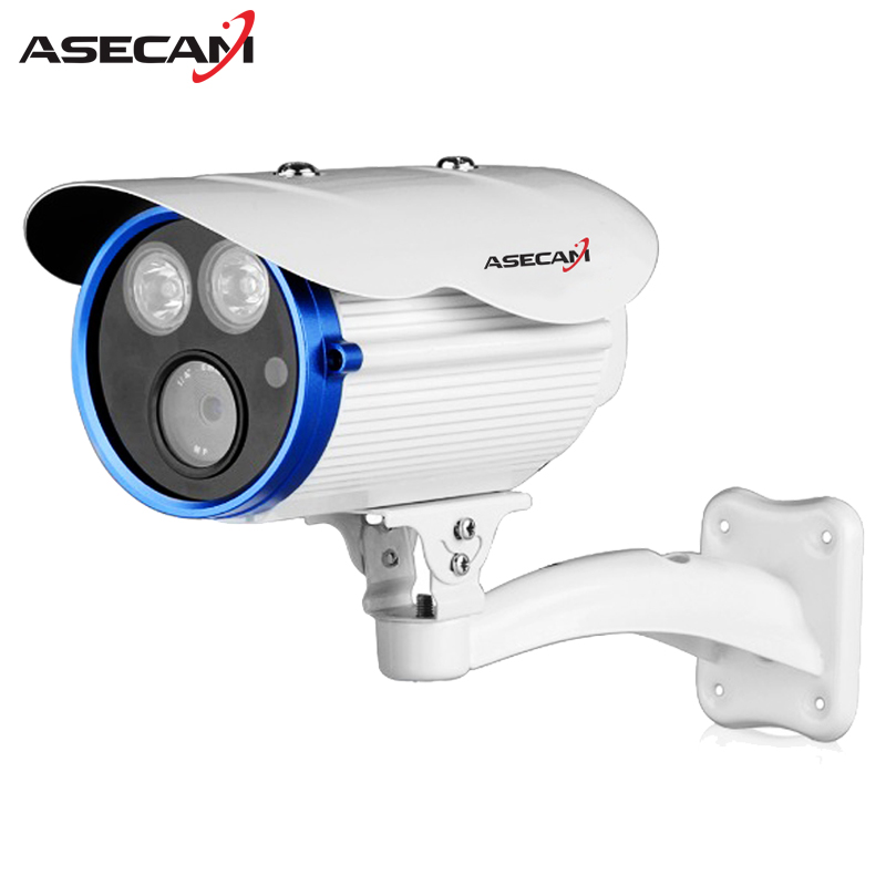 ASECAM Super CCTV Full HD 1920P Waterproof Outdoor 2* Array LED infrared Security 3MP Surveillance AHD Camera With Bracket 3mp hd full 1920p system security camera white metal bullet cctv day night surveillance ahd camera waterproof 24led infrared