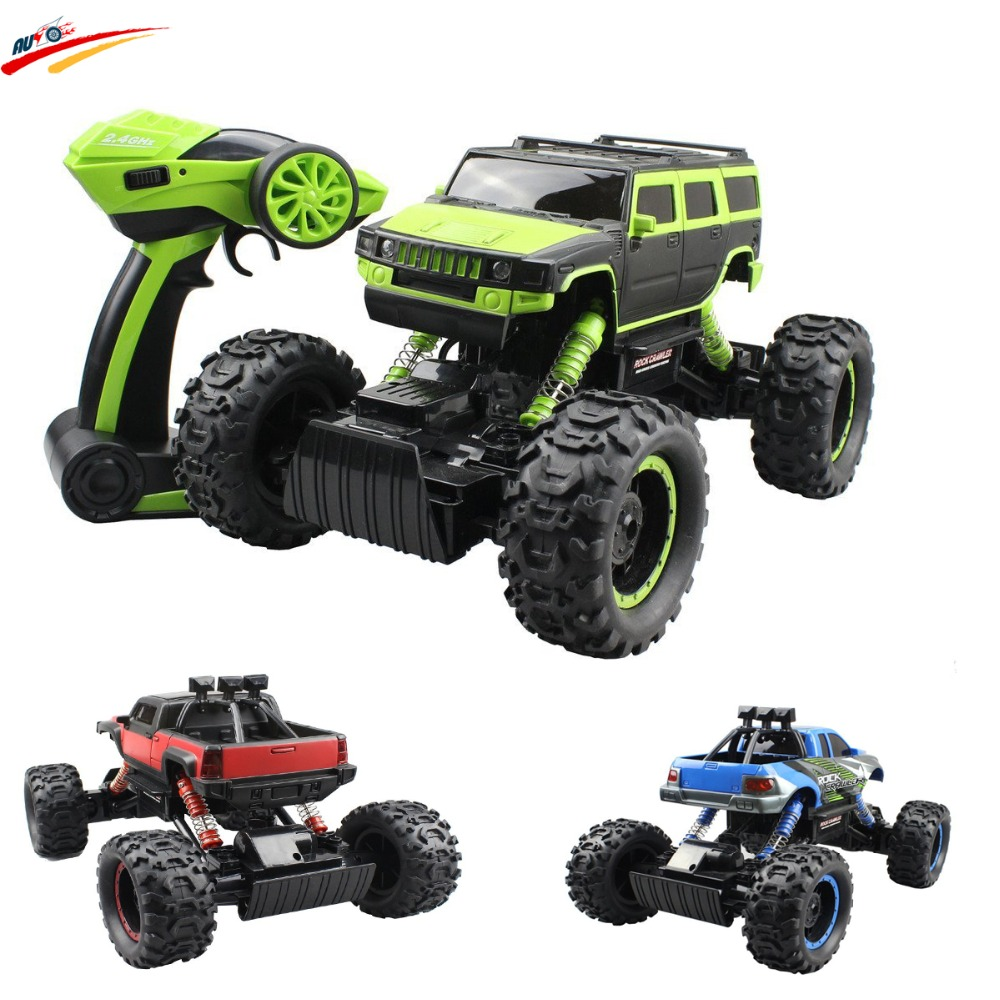 RC Car 2.4G 1:14 RC Rock Crawler 4WD Monster Truck Off-Road Vehicle 37cm Length Racing Truck Body Buggy Toy