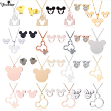 Yiustar Cute Mickey Jewelry Mouse Mickey Pendant Necklace fo