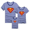 New Superman Family T shirts Summer Navy Style Matching Mother and Daughter Father and Son Clothes Mommy and Me Family Outfit