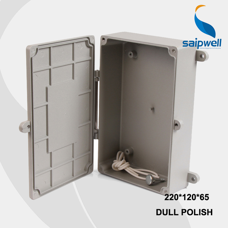 220*120*65mm Size Industrial Waterproof Aluminium Box / Electrical Aluminium Enclosure With CE,ROHS SP-FA6 2015 ip66 electrical aluminium enclosure waterproof box 300 210 130 with 4 screws