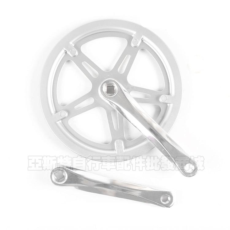 ФОТО 52T Bicycle Crank Crankset For Folding Bikes BMX Road Bicycles Monolithic Cranksets Chain Wheel Bicycle parts