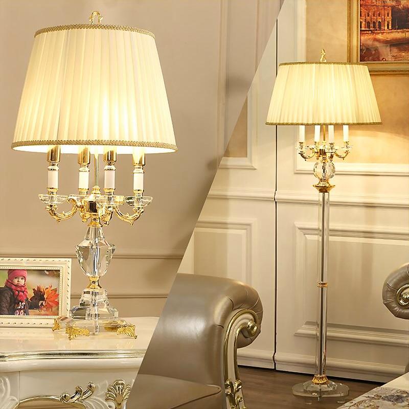 Classico Europeo Lampada da Tavolo in Cristallo Camera da Letto Illuminazione Lampada da Comodino di Lusso di Cristallo di Modo Lampada da Tavolo Abajur E14 Ha Condotto La Lampadina - 2
