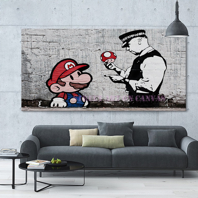 Banksy graffiti pop art street art on canvas poster and print wall art pictures for living