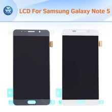 Lcd original para samsung galaxy note 5 n920 pantalla lcd táctil digitalizador asamblea de cristal oro plata azul blanco + herramientas