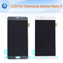 Original LCD for Samsung Galaxy Note 5 N920 LCD display touch screen digitizer glass assembly gold silver blue white+tools