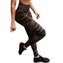 c5cda6c45ec Sexy Women High Waist Yoga Pants Printed Camo Yoga Leggings For Fitness  Push Up Slim Exercise Sport Pants Jogger Running Leggins