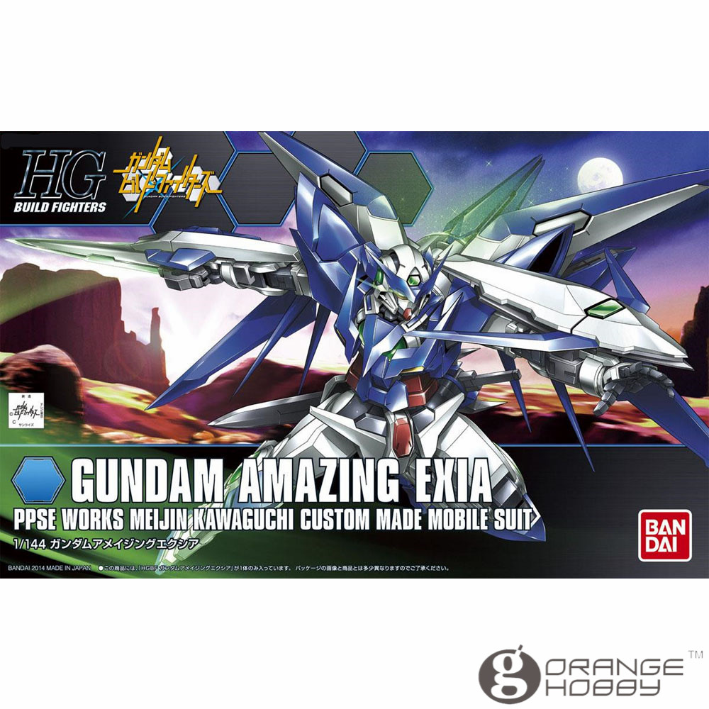 OHS Bandai HG Build Fighters 016 1/144 Gundam Amazing Exia Mobile Suit Assembly Model Kits