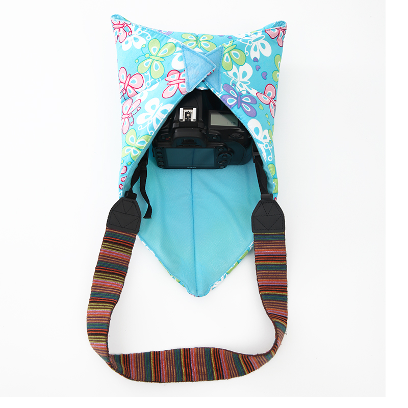 CADeN Camera Foldable Cloth Lens Bags Magic Wrapper Cleaning Pleated Fabric Cotton Cover Bag for Canon Nikon DSLR Camera
