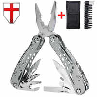 EDC cuchillo multiherramienta de supervivencia al aire libre herramientas del ejército suizo alicates plegables de bolsillo cuchillo llavero con abrebotellas para Camping senderismo