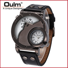 2016 oulm alloy watches, fashion boys watches express, dual time zone men watches Brand wristwatch