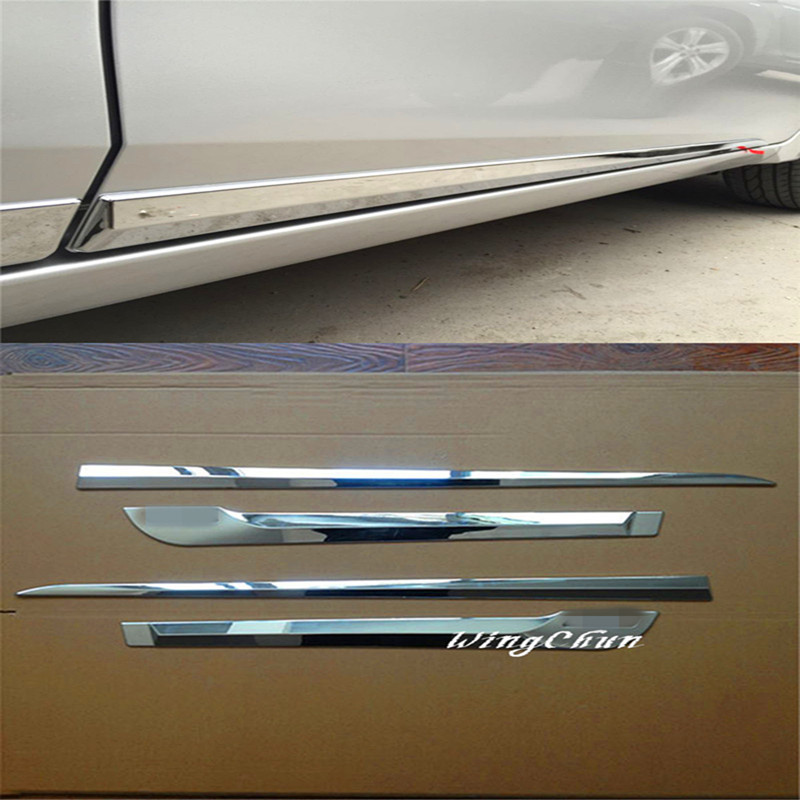 4PCS/SET High quality ABS Chrome Plated Door Body Adornment Article  For Toyota Corolla 2014 Accessories nitro triple chrome plated abs mirror 4 door handle cover combo