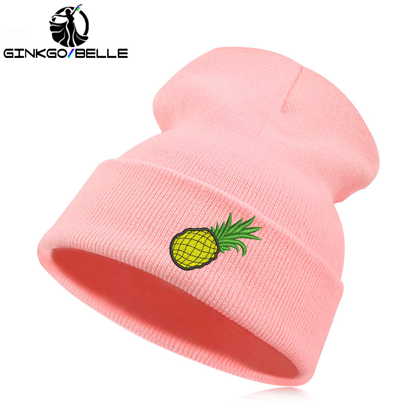 fb5d98500fc99 Detail Feedback Questions about Beanie Hat Skullie Cap Slouchy Winter  Embroidery Cool Punk Men Women Teen Street Dance Funny Personalized  Pineapple Foodie ...