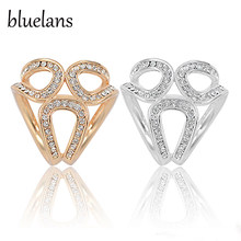 Bluelans Berlian Imitasi Garland Ring Benang Bros Syal Sutra Klip Perhiasan Hadiah(China)