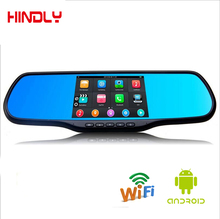 5.0 Inch Android Touch Rearview Mirror Car Camera Wifi GPS Navigator Full HD 1080p Car DVR Dual Lens Parking Video Recorder