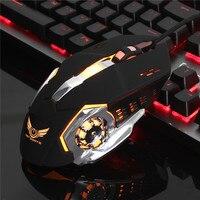 USB Kablolu 6 Düğmeler LED Arka Işık Sessiz Oyun Fare Oyun 4 seviye Ayarlanabilir 3200 DPI Slient Bilgisayar Oyunu Fare PC Laptop Için